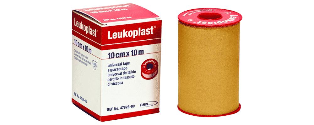 Foto de caja de esparadrapo leukoplast